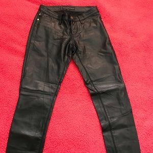 Rock & Republic Pants - Rock & Republic Black Faux Leather Pants